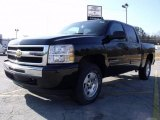 2010 Black Chevrolet Silverado 1500 LT Crew Cab 4x4 #24588901
