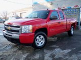 2009 Victory Red Chevrolet Silverado 1500 LT Extended Cab 4x4 #24693395