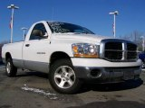 2006 Bright White Dodge Ram 1500 SLT Regular Cab #24693374