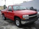2001 Victory Red Chevrolet Silverado 1500 Regular Cab 4x4 #24589098