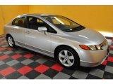 2007 Alabaster Silver Metallic Honda Civic EX Sedan #24589155