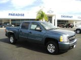 2009 Blue Granite Metallic Chevrolet Silverado 1500 LT Crew Cab #24589282