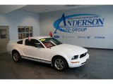 2005 Performance White Ford Mustang V6 Premium Coupe #24589336