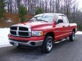 2004 Flame Red Dodge Ram 1500 SLT Quad Cab 4x4 #24589365