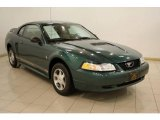 2000 Amazon Green Metallic Ford Mustang V6 Coupe #24589423