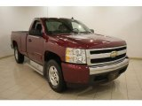 2008 Deep Ruby Metallic Chevrolet Silverado 1500 LT Regular Cab 4x4 #24589436
