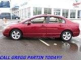 2007 Tango Red Pearl Honda Civic EX Sedan #24753015