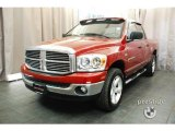 2007 Flame Red Dodge Ram 1500 SLT Quad Cab 4x4 #24753039