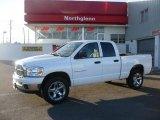 2007 Bright White Dodge Ram 1500 Big Horn Edition Quad Cab 4x4 #24753159