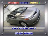 2006 Galaxy Gray Metallic Honda Civic LX Coupe #24589679