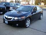 2009 Crystal Black Pearl Acura TSX Sedan #24693512
