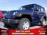 2010 Deep Water Blue Pearl Jeep Wrangler Sport 4x4 #24693525