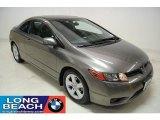 2007 Galaxy Gray Metallic Honda Civic EX Coupe #24693652