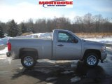2008 Silver Birch Metallic Chevrolet Silverado 1500 Work Truck Regular Cab #24693824
