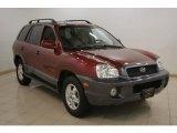 2004 Merlot Red Hyundai Santa Fe GLS 4WD #24693884