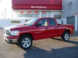 2007 Flame Red Dodge Ram 1500 Big Horn Edition Quad Cab 4x4 #24753161