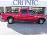 2004 Red Ford F250 Super Duty XLT Crew Cab #24753312
