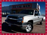 2003 Light Pewter Metallic Chevrolet Silverado 1500 Extended Cab 4x4 #24753318