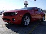 2010 Inferno Orange Metallic Chevrolet Camaro LT Coupe #24753376