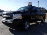 2010 Black Chevrolet Silverado 1500 LT Crew Cab 4x4 #24753378