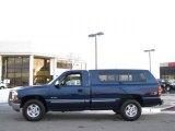 2000 Indigo Blue Metallic Chevrolet Silverado 1500 LS Regular Cab 4x4 #24753538