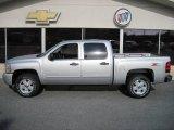 2010 Sheer Silver Metallic Chevrolet Silverado 1500 LT Crew Cab 4x4 #24753570