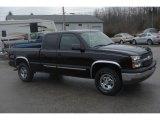 2004 Black Chevrolet Silverado 1500 LS Extended Cab 4x4 #24753618