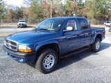 2004 Patriot Blue Pearl Dodge Dakota SLT Quad Cab 4x4 #24753657