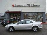 2002 Brilliant Silver Metallic Chrysler Sebring LX Sedan #24874803