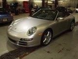 2007 Arctic Silver Metallic Porsche 911 Carrera Cabriolet #24874993