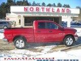2009 Inferno Red Crystal Pearl Dodge Ram 1500 SLT Quad Cab 4x4 #24874857