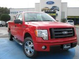 2010 Vermillion Red Ford F150 STX SuperCab #24898797