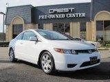 2007 Taffeta White Honda Civic LX Coupe #24901341