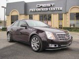 2009 Black Cherry Cadillac CTS Sedan #24901347