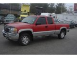 2005 Fire Red GMC Sierra 1500 SLE Extended Cab 4x4 #24901458