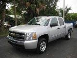 2010 Sheer Silver Metallic Chevrolet Silverado 1500 LT Crew Cab #24901033
