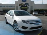 2010 White Platinum Tri-coat Metallic Ford Fusion SE #24901084