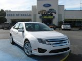 2010 White Platinum Tri-coat Metallic Ford Fusion SE #24901085