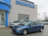 2007 Atomic Blue Metallic Honda Civic LX Sedan #24900941