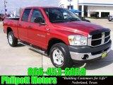 2007 Inferno Red Crystal Pearl Dodge Ram 1500 SLT Quad Cab 4x4 #24901221