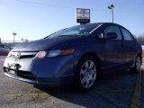 2007 Atomic Blue Metallic Honda Civic LX Sedan #24945151
