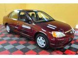 2002 Radiant Ruby Red Pearl Honda Civic LX Sedan #24945263