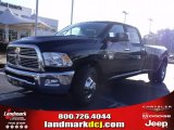 2010 Brilliant Black Crystal Pearl Dodge Ram 3500 Big Horn Edition Crew Cab Dually #24999252