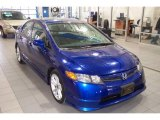 2007 Royal Blue Pearl Honda Civic Si Sedan #24999534