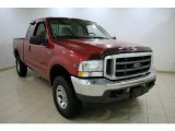 2002 Toreador Red Metallic Ford F250 Super Duty XLT SuperCab 4x4 #24999527