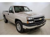 2006 Silver Birch Metallic Chevrolet Silverado 1500 Work Truck Regular Cab 4x4 #24999528