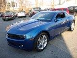 2010 Aqua Blue Metallic Chevrolet Camaro LT Coupe #24999313