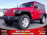 2010 Flame Red Jeep Wrangler Sport 4x4 #24999234