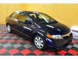 2007 Royal Blue Pearl Honda Civic LX Sedan #25063031