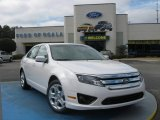 2010 White Platinum Tri-coat Metallic Ford Fusion SE #25062527